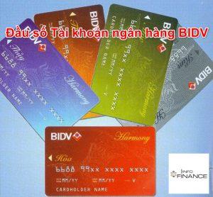 Các đầu số tài khoản của ngân hàng BIDV hiện nay là số nào?