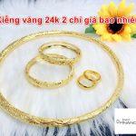 Kiềng Vàng 24k 5 Chỉ, 3 Chỉ, 2 Chỉ, 1 Chỉ Giá Bao Nhiêu Tiền 2021?