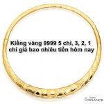 Kiềng vàng cưới 9999 5 chỉ, 3, 2, 1 chỉ giá bao nhiêu hôm nay 2021?
