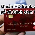 Số tài khoản ngân hàng HD Bank có bao nhiêu số và Cách xem lại số