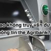 Tại sao không truy vấn được thông tin thẻ Agribank? [update 2020]