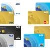 Các Loại Thẻ ATM của Ngân Hàng Acb và Biểu phí 2020