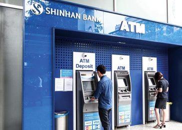 Thẻ ATM Shinhan Bank rút tiền được những ngân hàng nào? tối đa bao nhiêu?