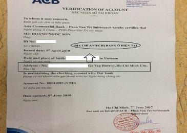10+ mẫu giấy xác nhận tài khoản các ngân hàng Vietcombank, Agribank, Techcombank,…