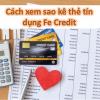 Cách xem sao kê thẻ tín dụng Fe Credit. Bảng, lấy, ngày, xin và in