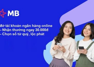 Mở tài khoản ngân hàng online tại nhà, miễn phí, chọn số đẹp 2021